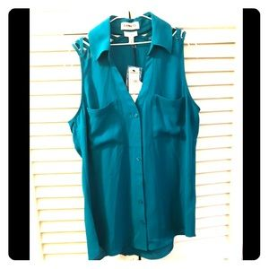 Express XS Portofino Sleeveless Shirt Slim NWT